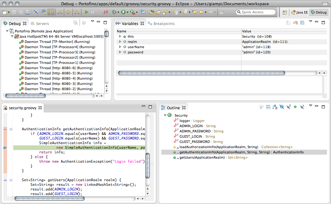 eclipse how to debug a
